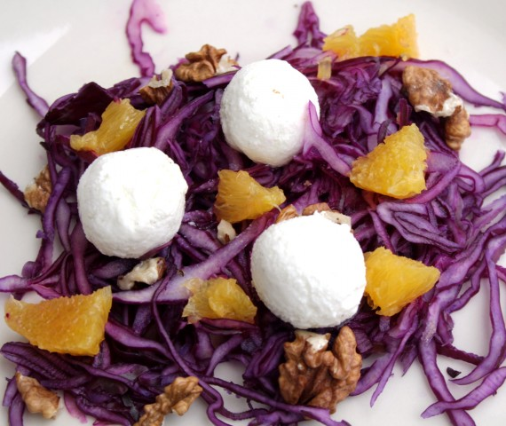 Ziegenkäse Blaukrautsalat